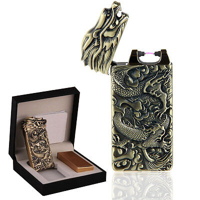 Electric Dragon Shake USB ARC PULSE LIGHTER Rechargeable Flameless Plasma Gift