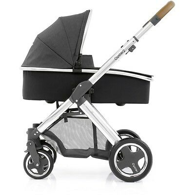 Babystyle Oyster 2 Mirror Tan Handle Travel System (Tungsten Grey)