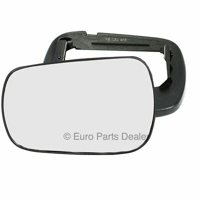Left Passenger Side WING DOOR MIRROR GLASS For Ford Fiesta 2002-2004 Clip On New