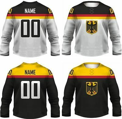 Team Germany Replica Ice Hockey Jersey/Adult+Youth Sizes/Custom Name