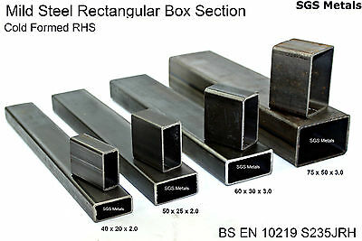 Mild Steel RECTANGULAR BOX SECTION Excellent range of sizes available from stock