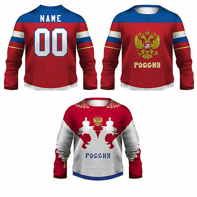 Team Russia Replica Hockey Jersey/Adult+Youth Sizes/Custom Name/Ovechkin