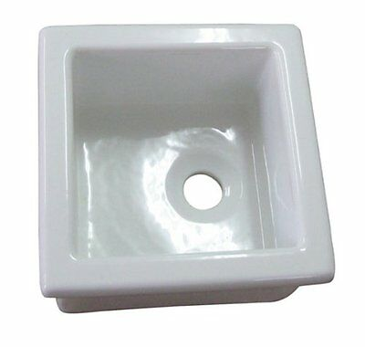 Barclay-Utility Sink, 13in x 13in, Fire Clay, White LS330 New