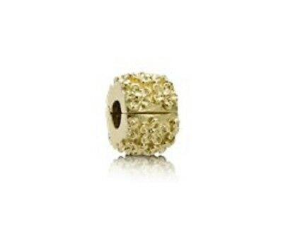 Authentic Pandora Retired 14k yellow gold #750507 Golden Flower clip charm NWOT