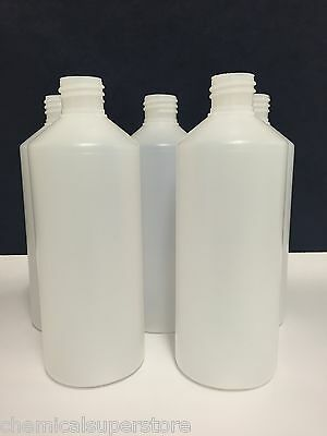 5 x  Bottles 500ML, Valeting, Household Cleaning Chemical Resistant - with caps