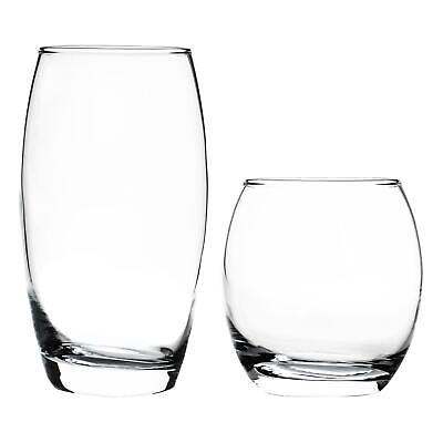 Set Of 12 Hi Ball & Tumbler Glasses (510ml & 405ml). Highball & Tumbler Set.
