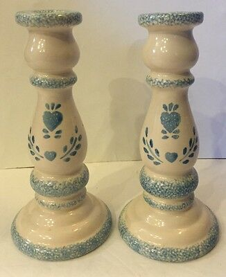 18th Century Vintage Pair Of Antique Ceramic Candle Holder China