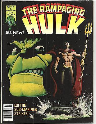 Rampaging Hulk # 5 (Marvel Magazine, Oct 1977), Fn/vf