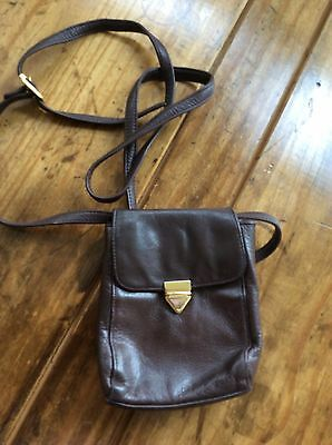 814905de25 womens handbags and purses Perlina Petite Brown Leather Cross body Purse