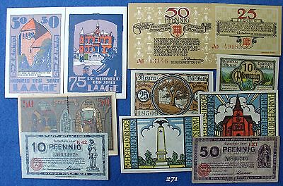 Germany Lot Set Collection 10 different notgeld