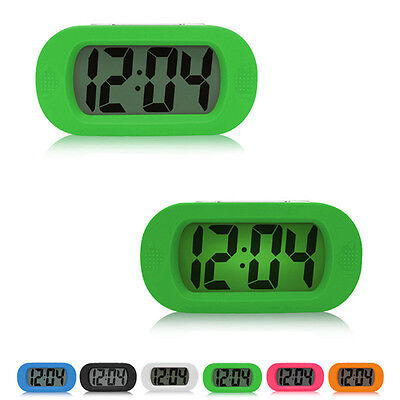 New Bedroom Silicone LED Clock Electronic Luminous Bedside Clock Mute No Bettery