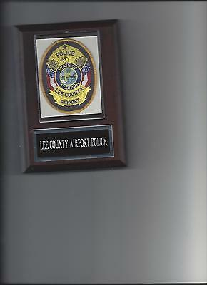 Lee County Airport Police Plaque State Of Florida Law Enforcement Photo Plaque