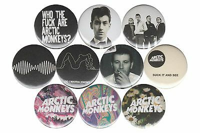Arctic Monkeys set of 10 Pins Buttons Badges Alex Turner Do I Wanna Know AM