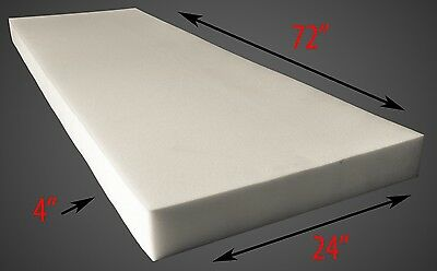 """Foam Dry Fast Reticulated  Sheets Upholstery Foam 4"""" Thick, 24"""" Wide x 72"""" Long"""