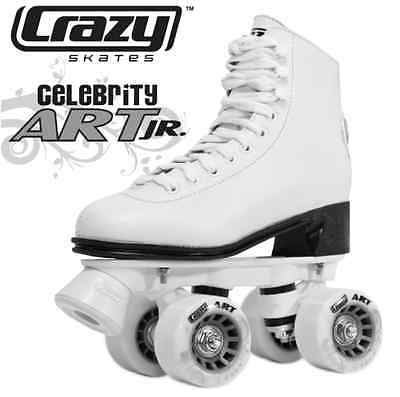 Crazy CELEBRITY JR Classic Retro Roller Skates - White - CLEARANCE! AWESOME!!!