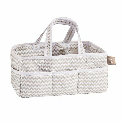 Trend Lab Dove Gray White Chevron Storage Caddy With 8 Outer Pockets 100906 NEW