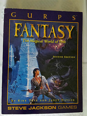 GURPS Fantasy magical world of yrth RPG roleplaying book steve jackson games