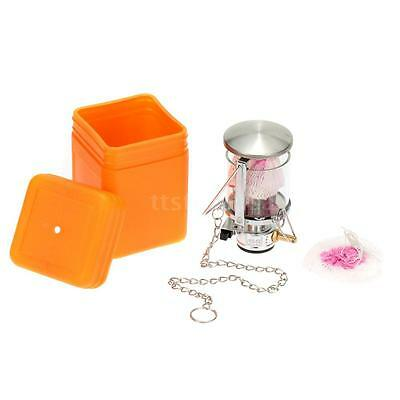 Mini Portable Camping Lantern Gas Light Tent Lamp Torch Hanging Glass Lamp A3U1