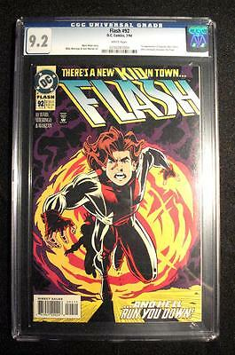 THE FLASH 92 (2nd SERIES) CGC : NM- (9.2) 1st IMPULSE (FREE SHIPPING with BIN)*