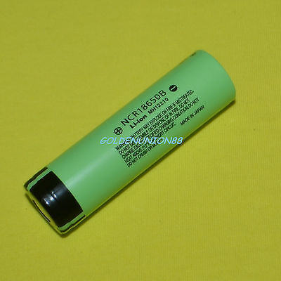 Panasonic NCR 18650 B 3400mAh 3.6V rechargeable battery flat type for assembly