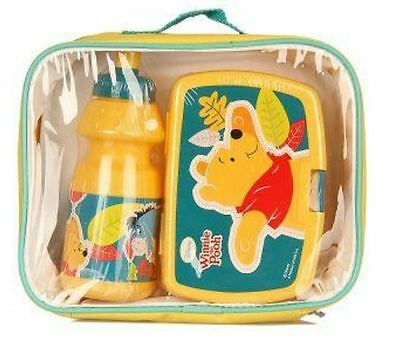Winnie the Pooh Insulated Lunch Bag, Snack Box & Bottle Set - Back to School