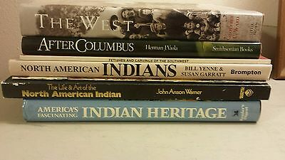 Lot of 7 Native American U.S. Indian Hardcover Books/Magazines