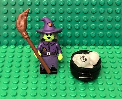 Lego Minifigure Head Piece Dark Purple Wacky Witch Hat #109