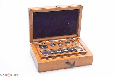 Antique Nickel Plated Weights Gold Balance Scale 2 Micro Grams Up To 50 Grams