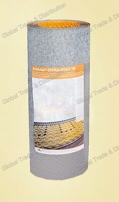 """Schluter DITRA HEAT DUO Insulation Membrane 3'3""""x 33' DHD810M 108 Ft² Roll 5/16"""""""