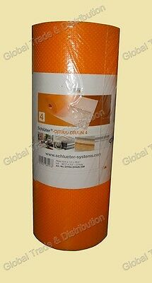 """Schluter Ditra Drain Uncoupling Thin-Bed Drainage Membrane 270 Ft² Roll  5/32"""""""