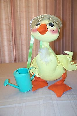Annalee Easter Spring Duck with Water Can & Bonnet NEW