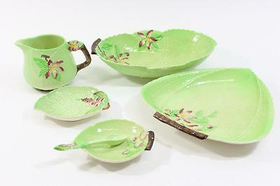 Vintage Lot Of 6 Pieces Carlton Ware Apple Blossom In Green, Cottage Chic Decor