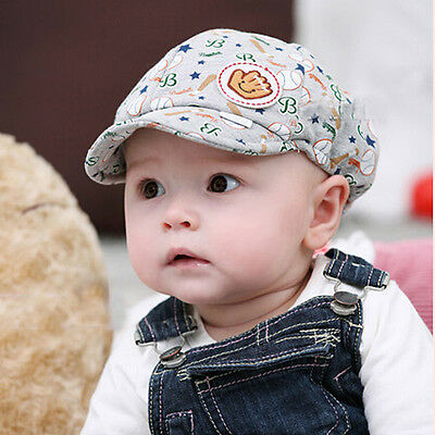Toddler Infant Trendy Baseball Baby Boy Girl Cute Hat Peaked Beret Cotton Cap
