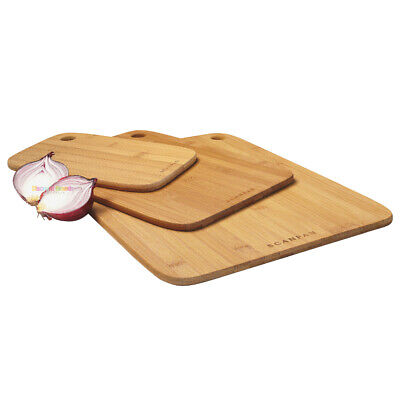 NEW SCANPAN 3 Piece Bamboo Chopping / Cutting Board Set 18191 SAVE!