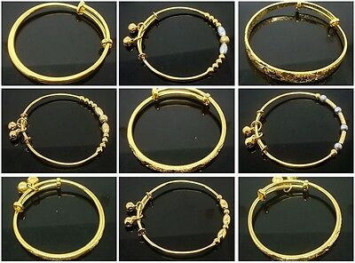 Fashion High Quality Children Bangle 18K Gold plated Baby Gift Bracelet