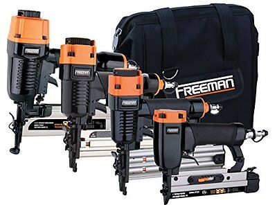 Freeman P4FNCB Four Piece Finish Nailer Combo Kit New