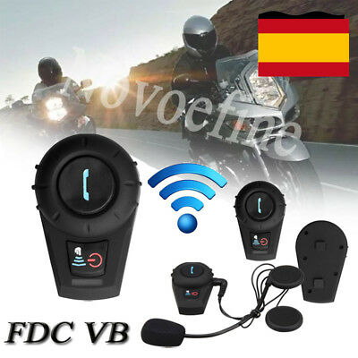 500M Interphone Intercomunicador Bluetooth Casco Auriculares Moto Motocicleta ES