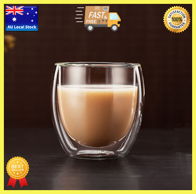 Classic Double Wall Glass Cup Tea Cup Cocktail Cup Bar Cup Coffee Cup 250ml