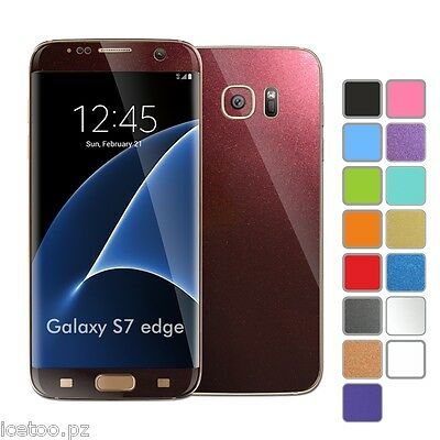 For SAMSUNG GALAXY S7 EDGE GLOSSY Colorful Decal Wrap Protector Sticker Skin