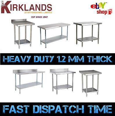 Stainless Steel Table Work Bench Catering Table Kitchen Top NEW 2ft to 6ft
