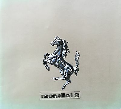 Ferrari Mondial 8 • 1980 • Brochure Prospekt • Multilingual • GOOD