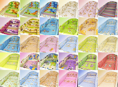 New Cot Bumper All Round For Nursery Bedding Set Moterhood Colourful Designs