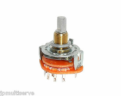 2P5P Double Pole Five Position Rotary Wafer Switch Smooth Cutout D Shaft