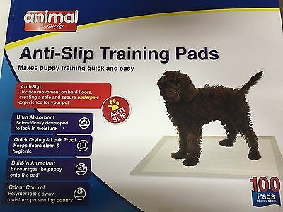 Animal Instincts Anti-Slip Dog Puppy House Training Pads 100 60x60cm