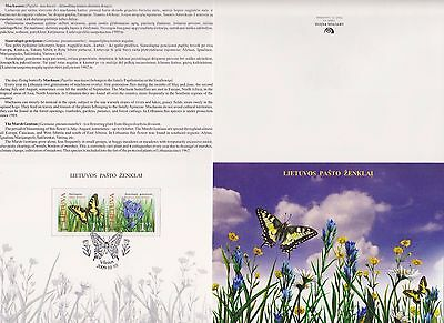Lithuania 2009 Butterflies Machaon And Gentian Booklet With Two Stamps