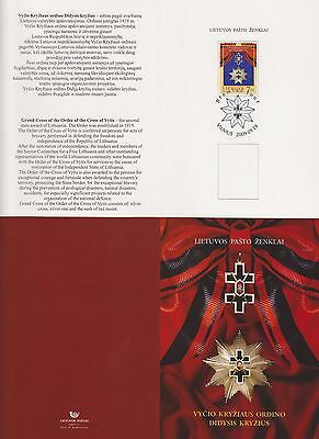 Lithuania 2009 Cross Of Vytis Booklet With One High Value Stamp