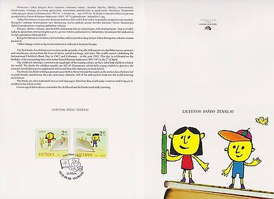 Lithuania 2010 Europa Books For Children Booklet With Two Stamps