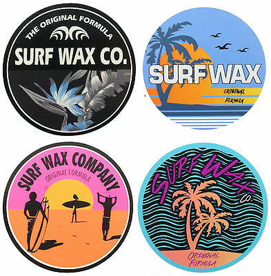 The Surf Wax Company Genuine Surf Stickers