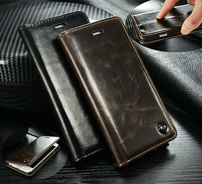 For iPhone 5 SE 6 6S 7 Plus Luxury Magnetic Wallet Leather Stand Case Flip Cover