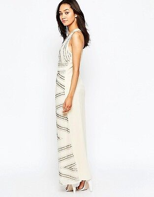 5508f3ad Maya Petite Embellished Maxi Dress With Plunge Front Cut Out Back £79 UK 10(